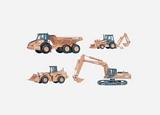HO Vehicles, Boats, Tractors, Cranes