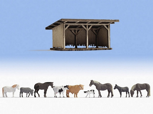 Noch NO12042 Cattle Shelter for H0