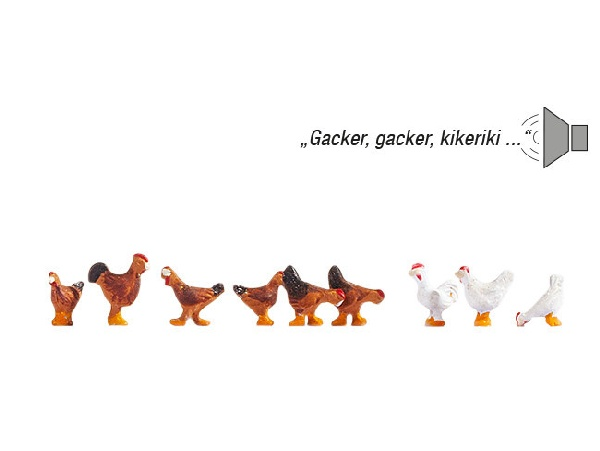 Noch NO12853 Chickens for H0