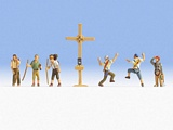 Noch NO15874 Mountain Hikers with Cross for H0