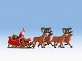 Noch NO15924 Santa Claus with Sleigh for H0