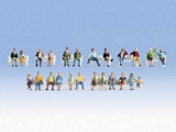 Noch NO16130 XL Figures Set Sitting People for H0