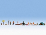 Noch NO16201 Themed Figures Set Camping for H0