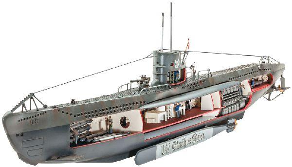 Revell 05060 German Submarine U47 with Interior