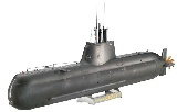 Revell 05056 1:144 German Submarine U-Boot U214