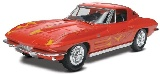 Revell 851968 Revell 1:25 63 Corvette Sting Ray Coupe Plastic Model Kit