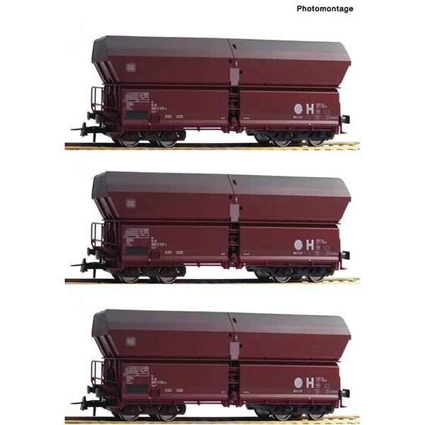 Roco 67082 DB Self Unloading Hopper Wagon Set