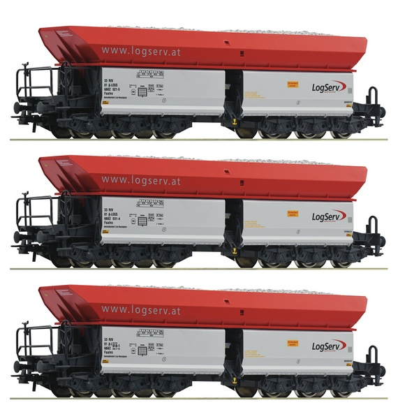 Roco 67154 Self Unloading Hopper Wagons Set