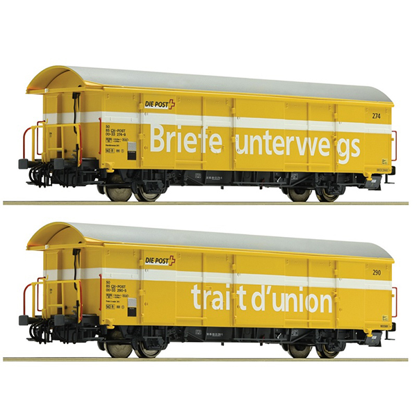 Roco 76200 SBB Postal Goods Wagon Z2 Set