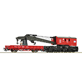 Roco 56239 OBB Crane and Barrier Wagon