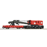 Roco 56240 Crane Car with Barrier Car DC