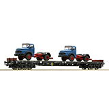 Roco 67303 Stake Wagon Plus 2 Lorries DB DC