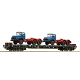 Roco 67304 Stake Wagon Plus 2 Lorries DB DC