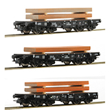 Roco 76159 NS Heavy Duty Flat Wagon Set