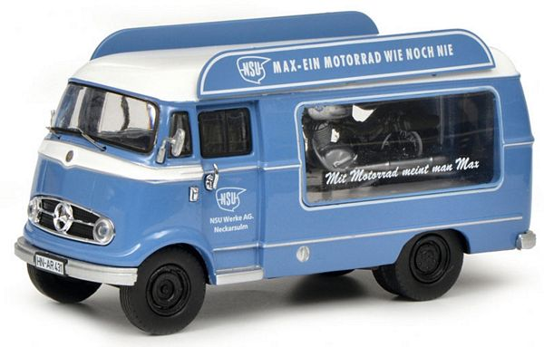 Schuco 450291800 Mercedes-Benz L319 Promotion Car NSU-Max with Piccolo NSU-Max