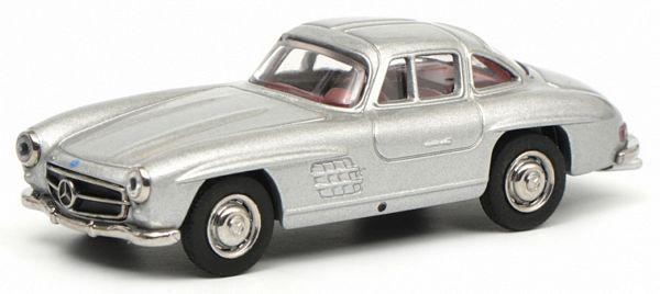 Mercedes benz 300 sl silver schuco-sc 452015700-1//64 scale