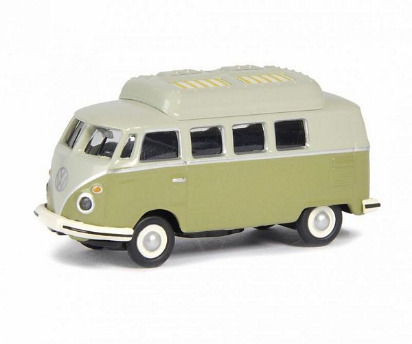 Schuco 452633800 VW T1C Camping Bus Green Grey