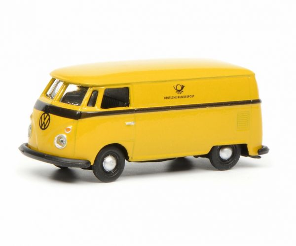 Schuco 452641100 VW T1C Box Van Deutsche Bundespost Yellow Black