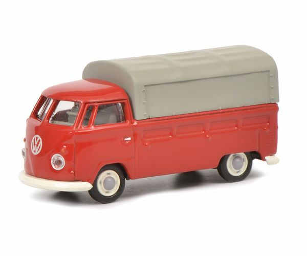 Schuco 452644300 VW T1b Pick-up With Tarpaulin Red