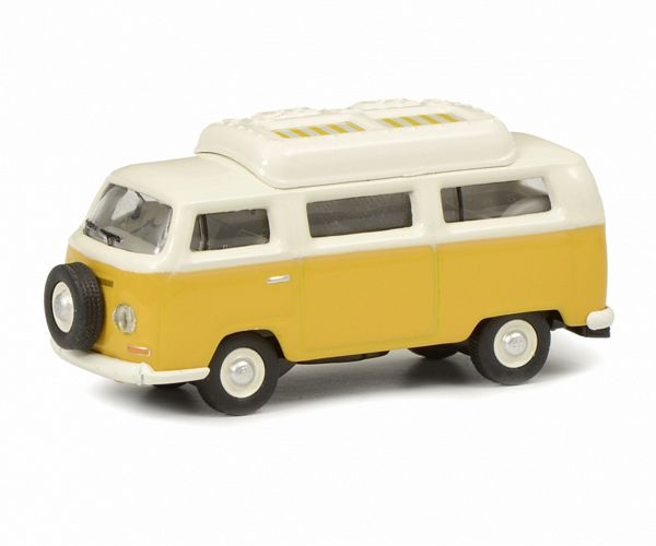 Schuco 452644400 VW T2A Camping Bus with Closed Roof Yellow White