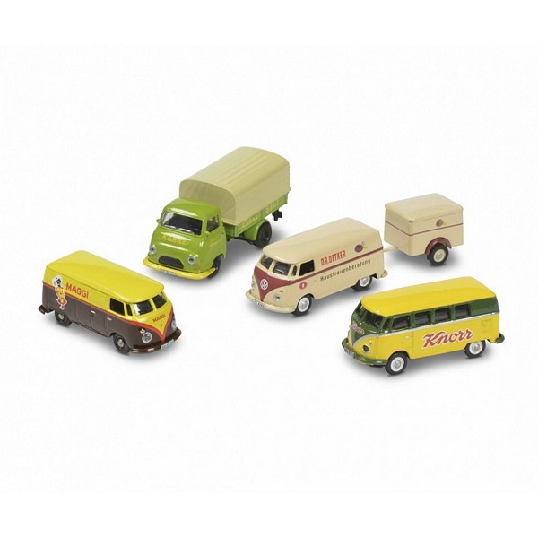 Schuco 452655400 Set of 4 Strong Brands VW T1 Bus