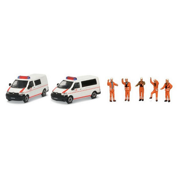 Schuco 452655500 2-Unit Set VW T5 Bus
