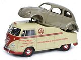 Schuco 450016300 VW T1a Midlands Centre with Beetle Chassis