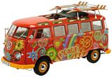 Schuco 450028300 VW T1 Samba Hippie with Roof Tracks and Surfboards