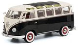Schuco 450028700 VW T1b Samba Black-White