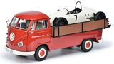Schuco 450037100 VW T1b pick-up Westfalia Porsche with Formela Vau Racing Car