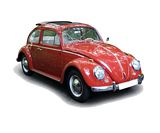 Schuco 450043300 VW Kafer Faltdach 1963 Red