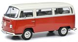 Schuco 450043600 VW T2a Bus L Red White