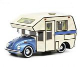 Schuco 450889900 VW Kafer Motorhome Blue
