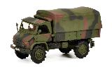 Schuco 452652700 Unimog S404 Pickup with Tarpaulin Camouflage