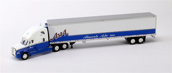 Trucks N Stuff SP048 Cascadia Sleeper Cab with 53 Ft Dry Van Trailer