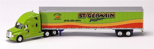 Trucks N Stuff SP053 Cascadia Sleeper Cab with 53 Ft Dry Van Trailer