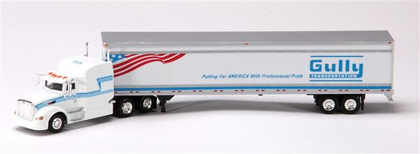 Trucks N Stuff SP080 Semi Truck Peterbilt 386 Reefer Van Trailer