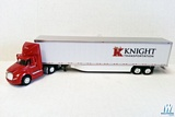 Trucks N Stuff SPT3075 Kenworth Day Cab Tractor with 53 ft Dry Van Trailer with Skirts