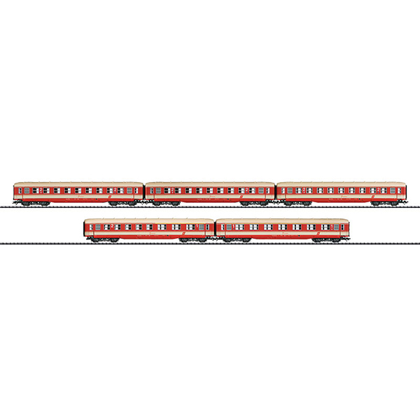 Trix 23455 Express Train Passenger Car Set Jaffa-Lackierung OBB