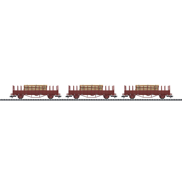 Trix 24514 Set with 3 Stake Cars Oms SJ