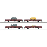 Trix 24201 Set with 4 Freight Cars with Vehicles for Postal System
