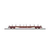 Trix 24348 Flat Car with Stakes Rs 80-2 SNCF