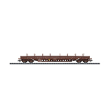 Trix 24349 Flat Car with Steel Sides Res OBB