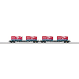 Trix 24357 Flat Car Set Bauart Sgs 693 DB
