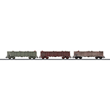 Trix 24515 Set with 3 High Side Gondolas Eaos SNCF
