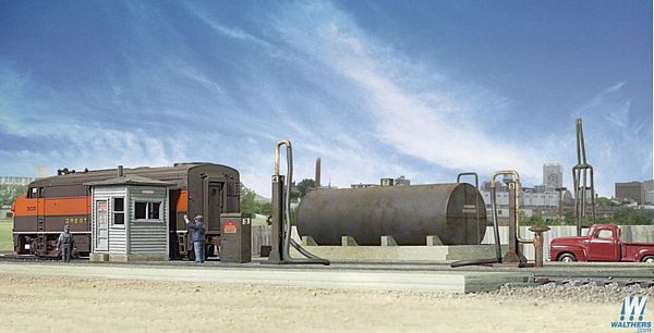 Walthers Cornerstone 2908 Diesel Fueling Facility Kit