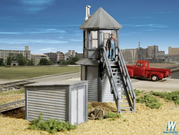 Walthers Cornerstone 2944 Gatemans Tower and Shed Kit