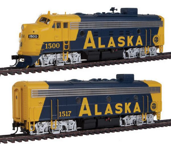Walthers 40710 Alaska EMD F7 AB Set with Dynamic Fan Diesel
