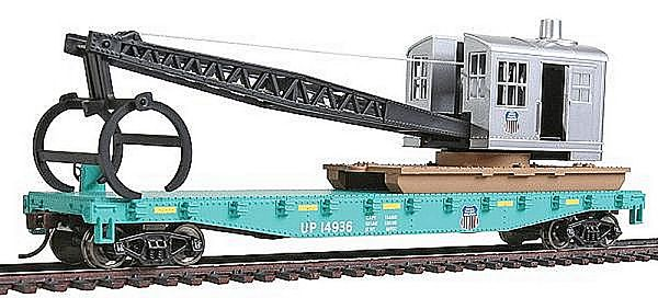 Walthers 9311783 Union Pacific Railroad Flatcar with Logging Crane