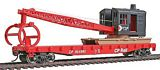 Walthers 9311781 Canadian Pacific Flatcar with Logging Crane
